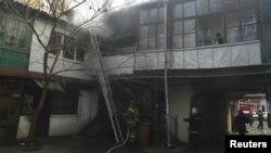 Odessada iki şübhəlinin tutulduğu bina