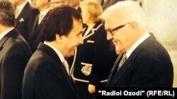 Имомуддин Сатторов с главой МИД Германии Франком Вальтером-Штенмайером