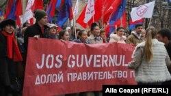 Protest PCRM în centrul Chișinăului împotriva guvernării