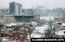 Грозный в разгар боевых действий, январь 1995 года