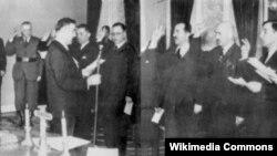 Inauguracija vlade Nezavisne države Hrvatske (NDH), april 1941.