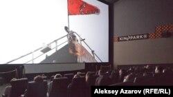 Показ одного из финальных эпизодов из картины «Бопем» режиссера Жанны Исабаевой. Алматы, 25 сентября 2016 года.
