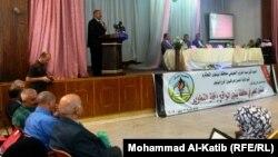 جانب من وقائع المؤتمر الأول لنقابة المعلمين فرع نينوى