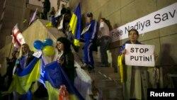 Акція на підтримку України. Тель-Авів, Ізраїль, січень 2015 року