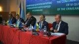 Qırımtatar Milliy Qurultayınıñ konferentsiyası. Kyiv, 2018 senesi noyabrniñ 12-si