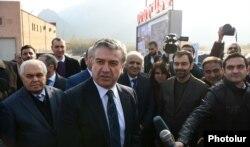 """Ermənistan - Baş nazir Karen Karapetyan """"Meghri""""nin açılışında. 15 dekabr"""
