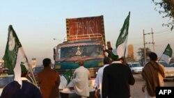 د تحریک انصاف پلویان د پای ته رسېدلي احتجاج پر مهال (پخوانی عکس)