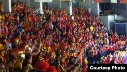 Македонски навивачи на ЕП во Србија.