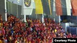 Македонските навивачи на ЕП во ракомет, Ниш, Србија