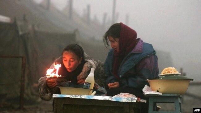 Беженцы в Чечне в период второй кампании
