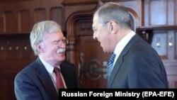 Sergei Lavrov və John Bolton