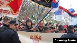 """Sa jednog od mitinga organizacije """"Naši 1389"""", Foto: Dragan Todorovic / Vreme"""