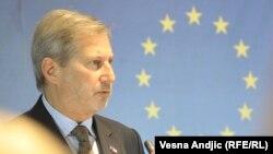 Комиссар ЕС по вопросам расширения и политики соседства Йоханнес Хан (архив)
