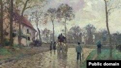 Каміль Пісаро, «Карэта ў Лювэсьен» (1870)