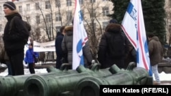On December 1, about 80 people gathered in a Moscow square in support of gun rights in Russia.