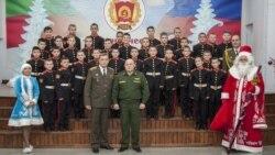 Кадеты суворовского училища в лагере посла РФ