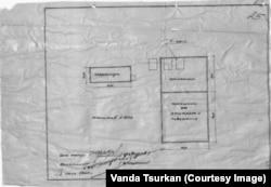 Схема расположения виселицы и крематория в концлагере Штутгоф