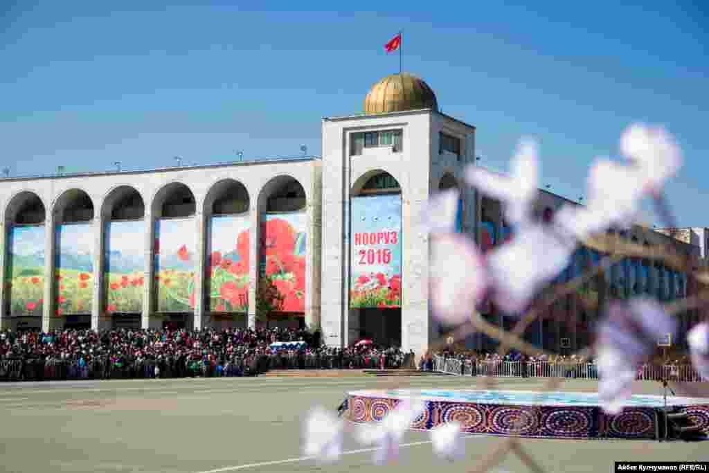 Празднование в Бишкеке.