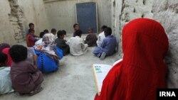 دانش آموزان در یکی از روستاهای سیستان و بلوچستان