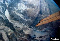 Lake Baikal as seen by astronauts onboard the International Space Station.
