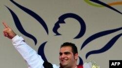 بهداد سلیمی در مسابقات آنتالیای ترکیه/ عکس آرشیوی است