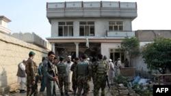 Афганські силовики на місці нападу у провінції Нангархар, 31 жовтня 2016 року
