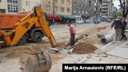Obnovljeni radovi u centru Sarajeva, 4. novembar 2013.