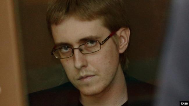 Илья Горячев в суде, 24 июля 2015 года