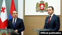 Հայաստանի վարչապետ Հովիկ Աբրահամյան ևՎրաստանի վարչապետ Իրակլի Ղարիբաշվիլի, արխիվ