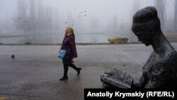Туман в Симферополе, иллюстрационное фото