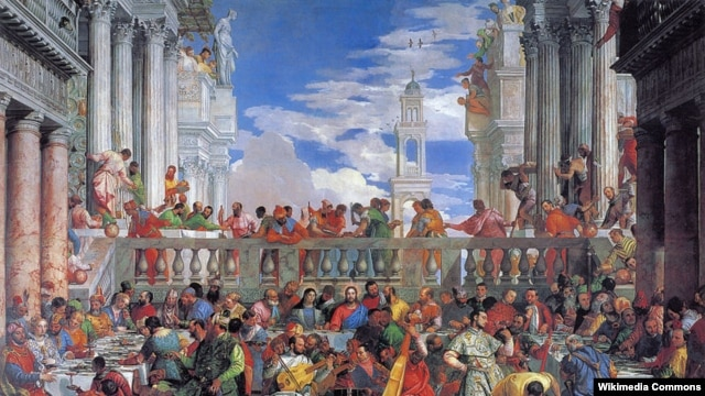"Paolo Veronese (1528–1588 ) is perhaps best known for ""The Wedding at Cana"" painting, which is on display in the Louvre in Paris."