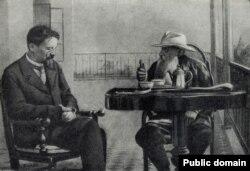 Çexovla Tolstoy Ukraynada.
