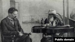 Chekhov və Lev Tolstoy
