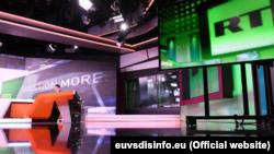 Ресей қаржыландыратын RT телеарнасының студиясы