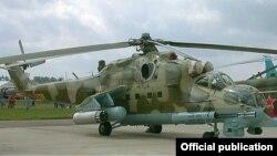 Российский военный вертолет.