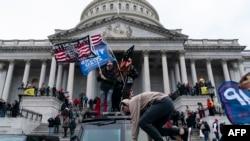 Кадър от размириците във Вашингтон на 6 януари