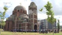 Protestë para Kishës Ortodokse në Prishtinë
