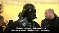 'Darth Vader' Prevented From Voting In Kyiv