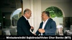 Janez Janša szlovén miniszterelnök és Orbán Viktor magyar miniszterelnök Bledben 2020. augusztus 30-án.