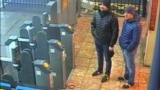 U.K. -- Suspects Aleksandr Petrov (R) and Ruslan Boshirov stand at Salisbury train station, March 3, 2018