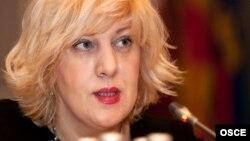 The OSCE's representative on freedom of the media, Dunja Mijatovic