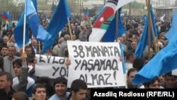 Bakıda aksiya - 22 aprel 2012