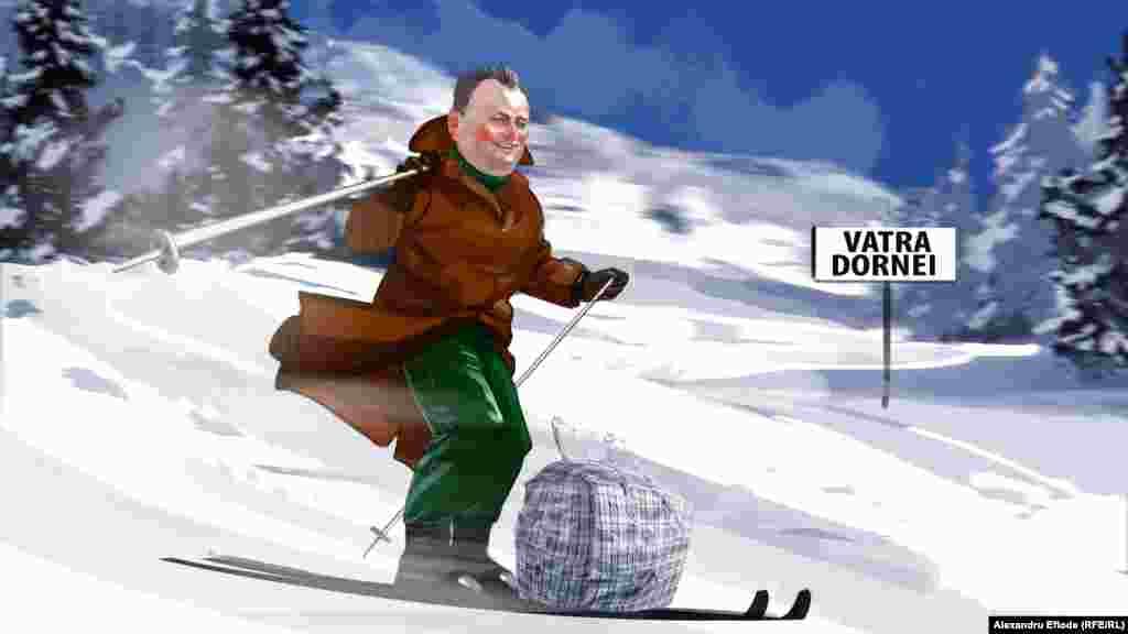 """Unde mai pui că altă piață emai aproape: """"Dragi români, fraților, eu vă stimez, vă iubesc. V-am spus: la noi în ospeție, noi la voi. Eu vreo șase - șapte ani am mers la schiuri în România""""..."""