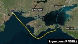 Траектория пути украинских кораблей