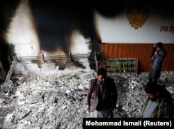 Представники сикхської общини в храмі після нападу, Кабул, 25 березня 2020 року