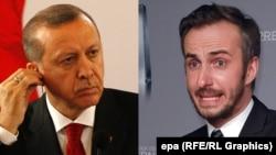 Jaan Boeghmermann (djathtas) dhe Recep Tayyip Erdogan