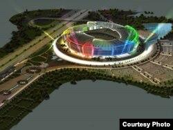 Bakı Olimpiya Stadionu (maket)