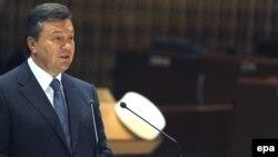Під час візиту Президента України Віктора Януковича до Страсбурга, 21 червня 2011 року