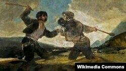 Франсіска Гоя. «Бойка на кіях»