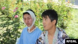 "A Kyrgyz man and an ethnic Uzbek man recover in an Osh hospital from injuries sustained in the ethnic violence in June. They were smoking cigarettes and the Kyrgyz man made a point of calling the Uzbek man his ""brother."""